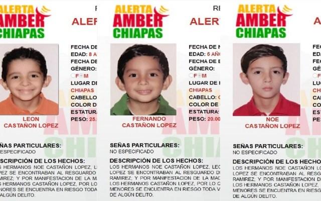 Activan Alerta Amber para hijos de senador electo de Chiapas - Foto de @AAMBER_chis
