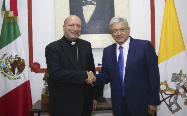 Nuncio apostólico Franco Coppola se reúne con AMLO
