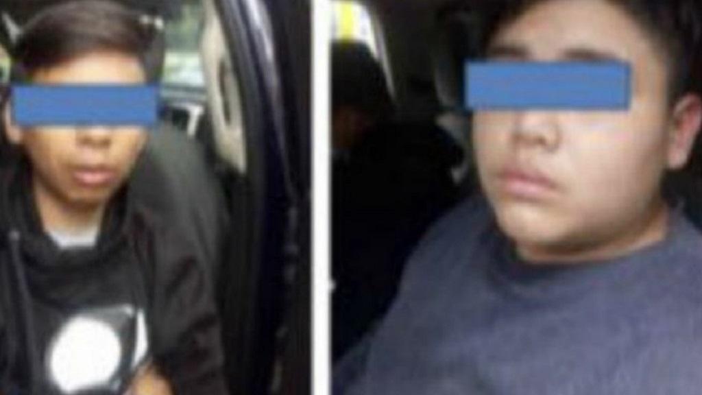 """Niños identificados como """"Los diablitos"""". Foto de Twitter"""