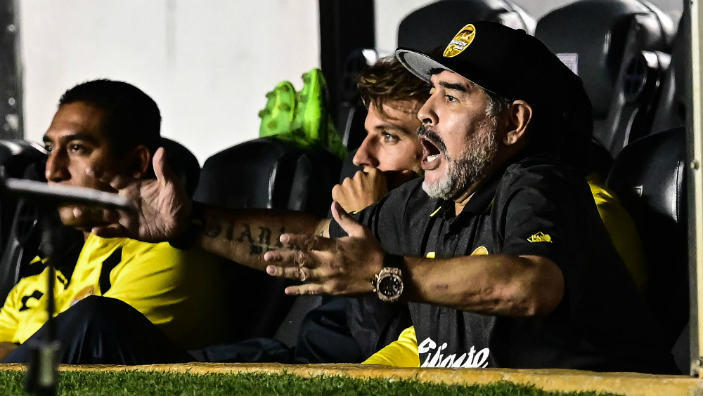 La eliminación de la Copa mexicana no generó presión — Maradona