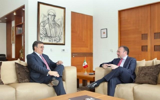 Ebrard y Videgaray dialogan sobre condición actual de la SRE - Foto de @SRE_mx