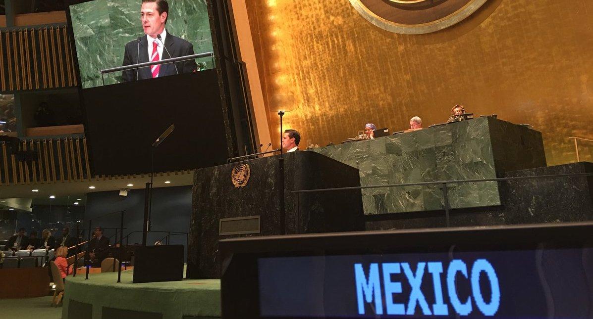 Enrique Peña Nieto en la ONU