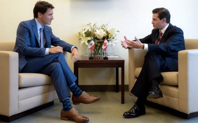 Peña Nieto discute negociación del TLCAN con Justin Trudeau - Foto de @ESanchezHdz