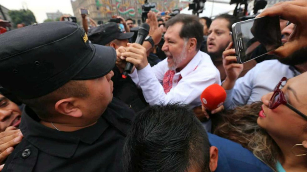 Impiden acceso de Fernández Noroña a Palacio Nacional - Foto de Milenio