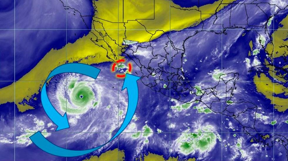 Huracán Rosa provocará tormentas en cinco estados - Foto de @conagua_clima