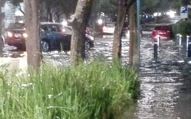 Afectaciones en la Ciudad de México por lluvias este martes - Foto de @VecinaSJI