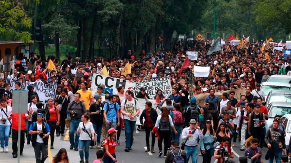 Estudiantes de la UNAM participarán en marcha del silencio - Marcha por los actos violentos en la UNAM. Foto de Notimex