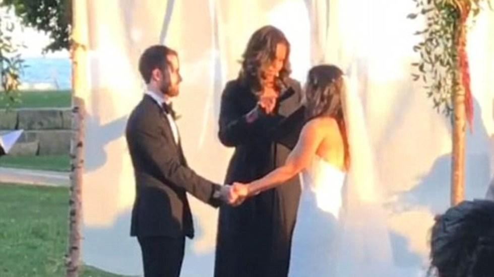 #Video Michelle Obama oficia boda en Chicago - Foto de Tania Newman
