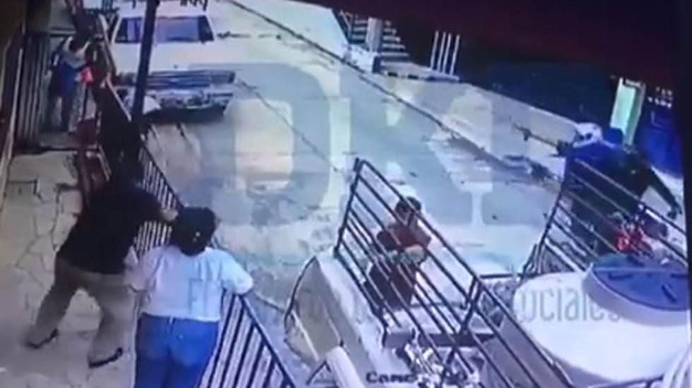 #Video Momento en el que asesinaron a periodista de Chiapas - Captura de pantalla