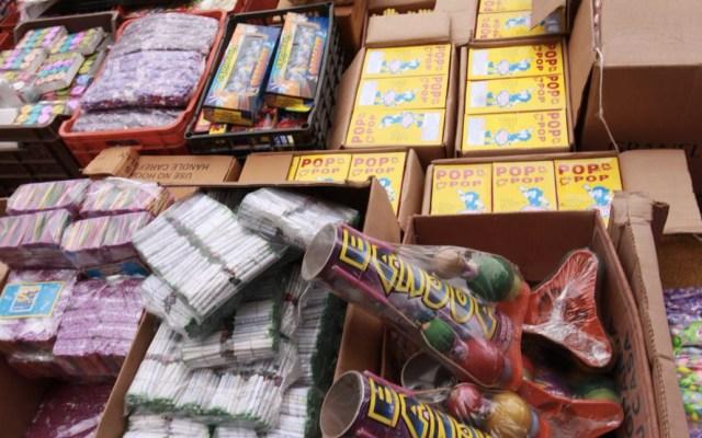 Decomisan 2 toneladas de pirotecnia en La Merced - Foto de SSP