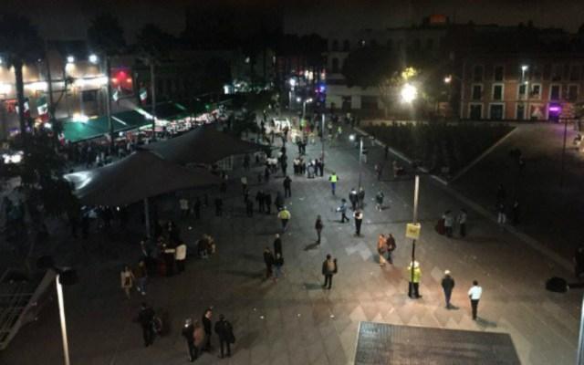 Asesinados en Plaza Garibaldi tenían antecedentes criminales - Plaza Garibaldi la noche de la balacera. Foto de Internet