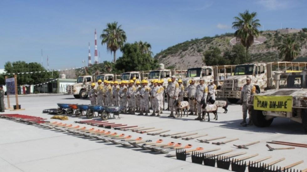 Sedena aplica Plan DN-III-E en Baja California Sur - Foto de @SEDENAmx