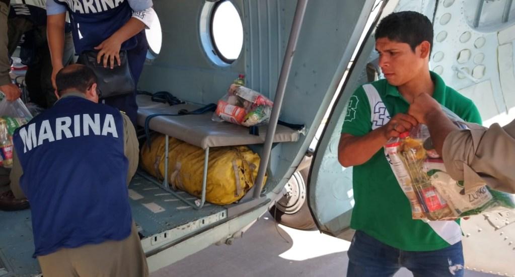 Semar envía víveres a damnificados por lluvias en Sinaloa - Foto de Semar