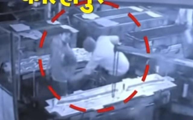 #Video Supervisor mata a empleado por broma con aire comprimido - Captura de pantalla