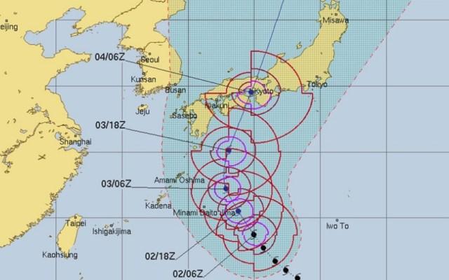 Tifón Jebi se acerca a las costas de Japón - Foto de @AJEnglish