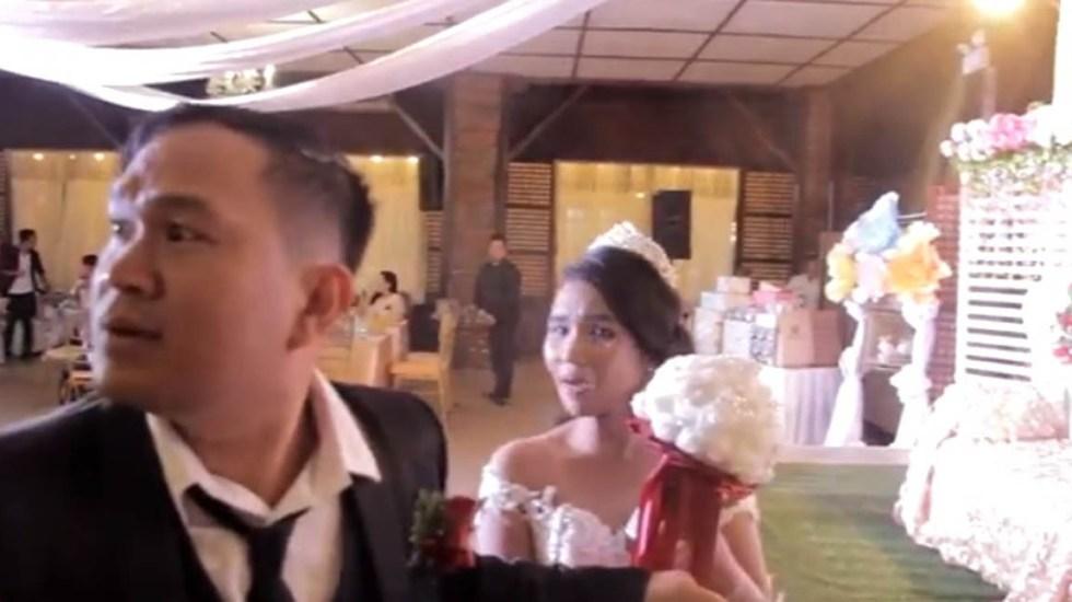 #Video Tornado acaba con la fiesta de recién casados - Foto Captura de Pantalla