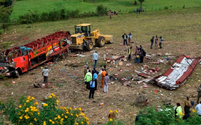 Accidente de autobús deja 51 muertos en Kenia - accidente kenia