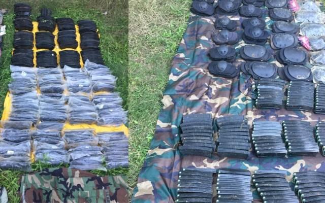 Aseguran cargadores, munición y equipo táctico en Tamaulipas - Foto de Ejército Mexicano