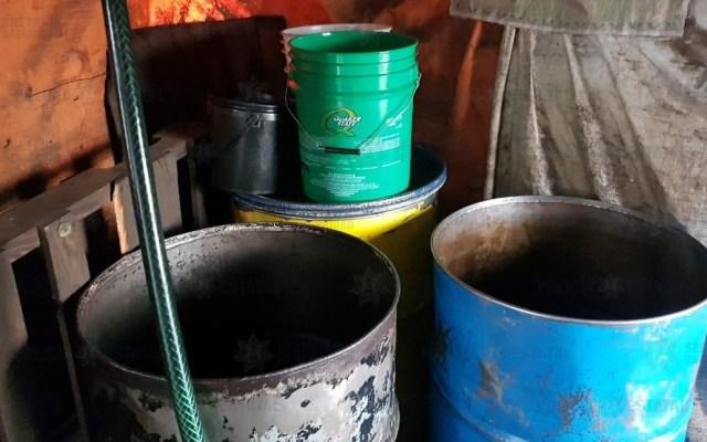 Aseguran predio donde vendían diésel robado en Ecatepec - Diésel