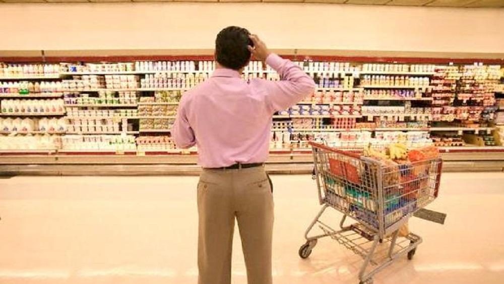 Baja índice de confianza pero sube situación económica del consumidor - Compra en supermercado. Foto de Internet