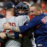 Medias Rojas de Boston derrotan a los Astros y van a la Serie Mundial - Foto de Bob Levey / GETTY IMAGES NORTH AMERICA / AFP