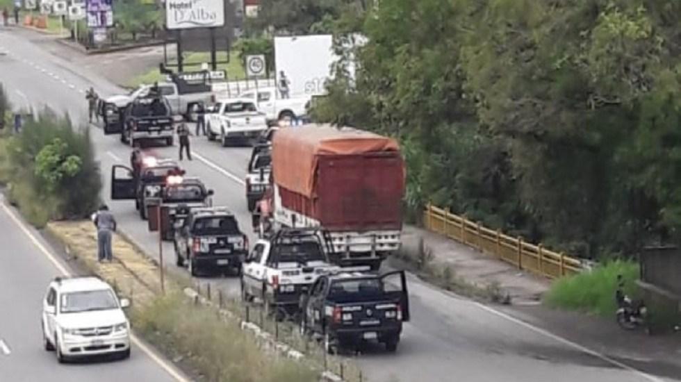 Cae jefe de plaza y banda de delincuentes en Veracruz - Movilización por aseguramiento de jefe de plaza y siete delincuentes en Veracruz. Foto de Quadratín