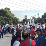 Campesinos bloquean avenida Constituyentes de la Ciudad de México - Foto de @jfcastaneda9