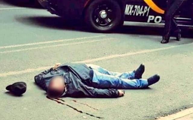 #Fotos Así mató el escolta al presunto ladrón en Polanco - Foto de Twitter