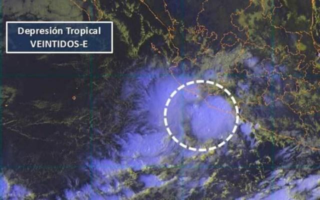 Se forma la depresión tropical 22-E en el Pacífico - Foto de Internet