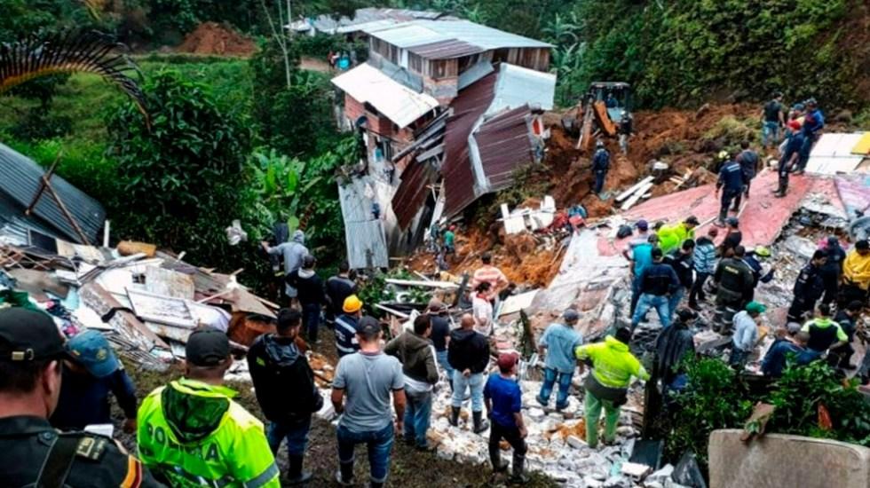 Image result for 12 muertos por deslizamiento de tierra en Colombia