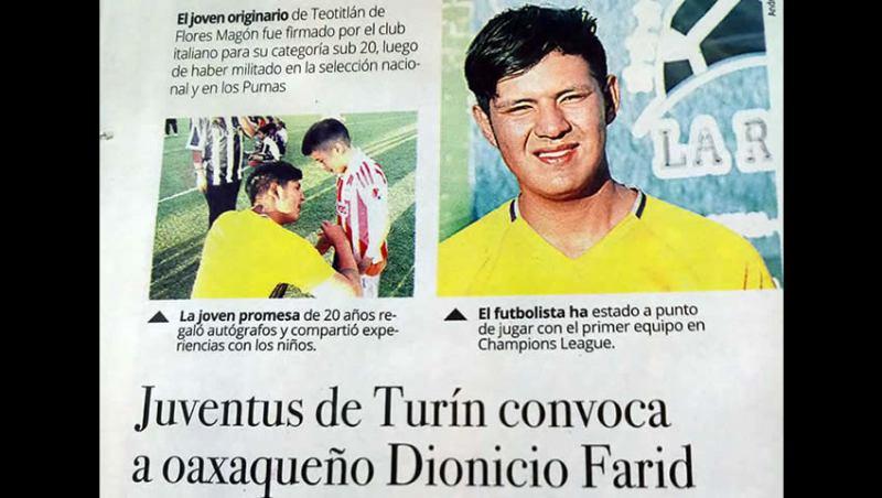 Dionicio farid vida falsa Juventus