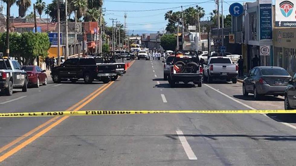 Ataque armado en Guaymas deja cinco policías muertos - Se dispara la violencia en Guaymas