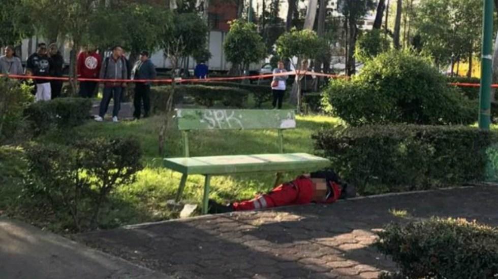 Muere hombre apuñalado en parque de Venustiano Carranza - El hombre murió por varias heridas de arma punzocortante en un parque de Venustiano Carranza