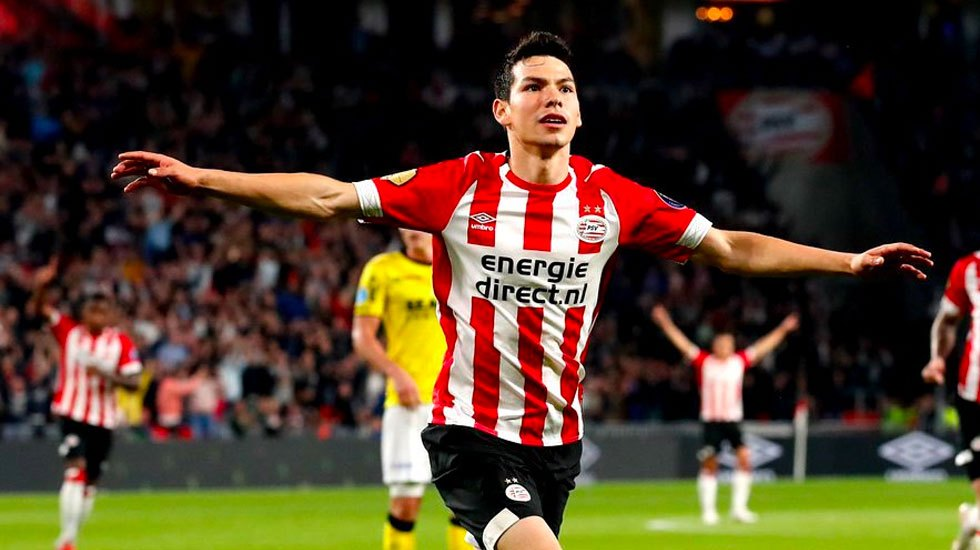 PSV da a conocer los dorsales que utilizarán 'Chucky' y 'Guti' - Chucky Gol de Lozano con el PSV