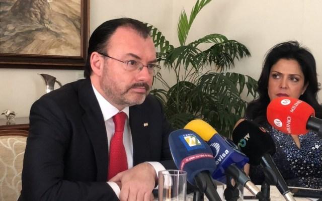 Videgaray anuncia su retiro de la política tras fin de sexenio - Luis Videgaray en conferencia de prensa sobre el USMCA. Foto de @SRE_mx