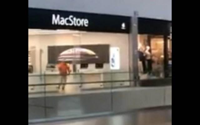 #Video Asaltan sucursal de MacStore en Celaya - MacStore saqueo Celaya
