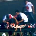 #Video Marc Márquez se disloca el hombro festejando - Captura de pantalla