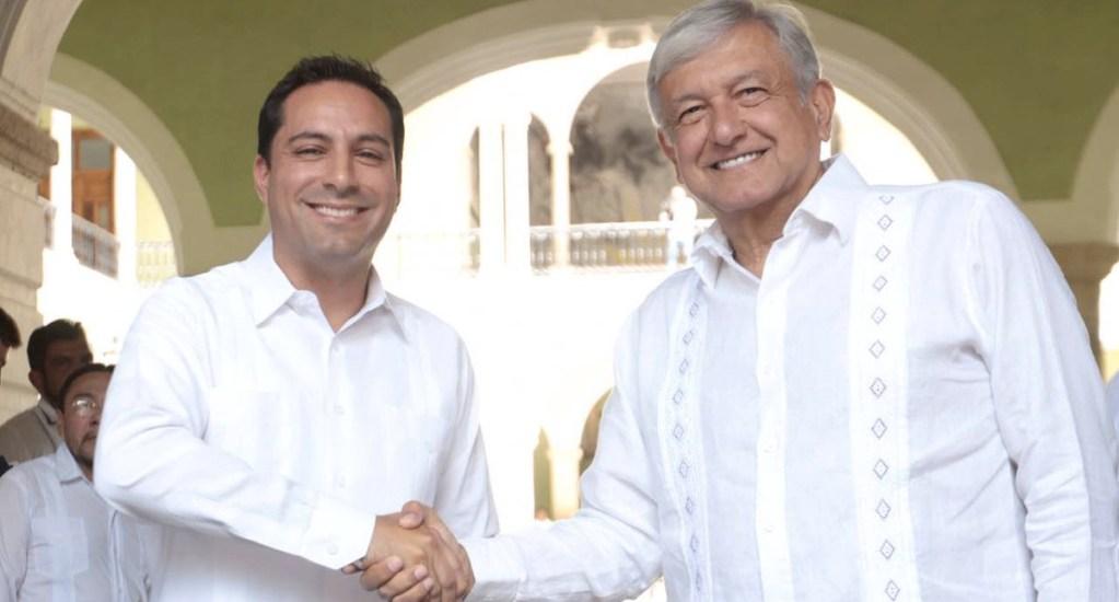 López Obrador se reúne con gobernador de Yucatán - Foto de Twitter Mauricio Vila