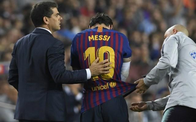 #Video Messi se fractura el brazo derecho y estará de baja tres semanas - lesión messi codo
