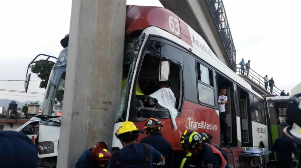 Accidente de Mexibús en Ecatepec deja 10 heridos - Foto de @vialhermes