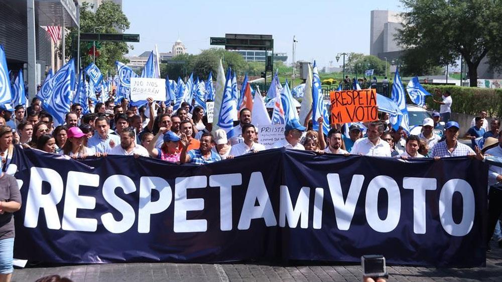 PAN rechaza anulación de comicios en Monterrey - Foto de @DianaGamezNL