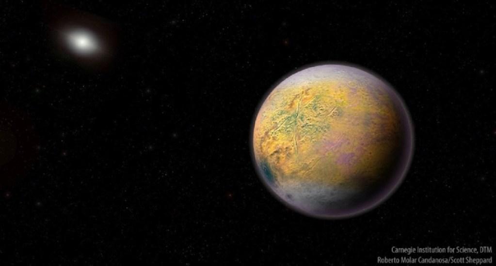 Hallan planeta enano al borde del Sistema Solar - Ilustración del Planeta X o Nueve. Foto de Carnegie Institution for Science