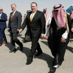 Pompeo llega a Riad por caso de periodista desaparecido - Foto de AP