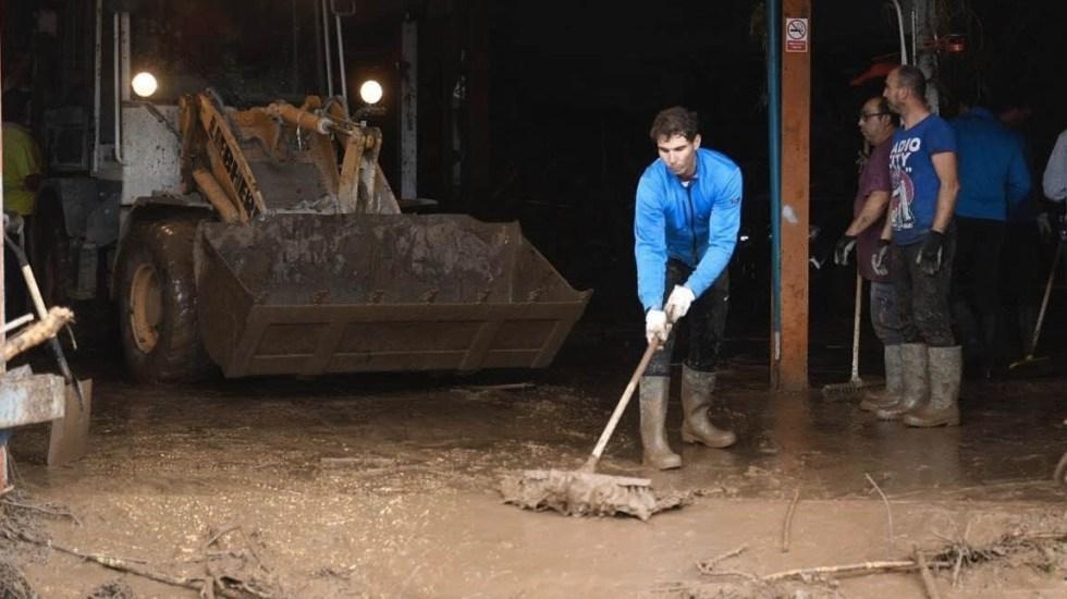 Nadal se suma a las labores de limpieza por lluvias en Mallorca - Nadal