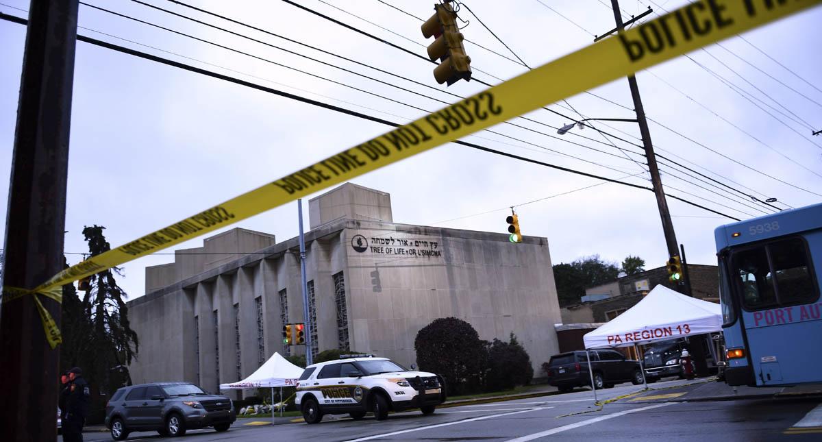 Sinagoga de la Congregación del  Árbol de la Vida. Foto de AFP / Brendan Smialowski