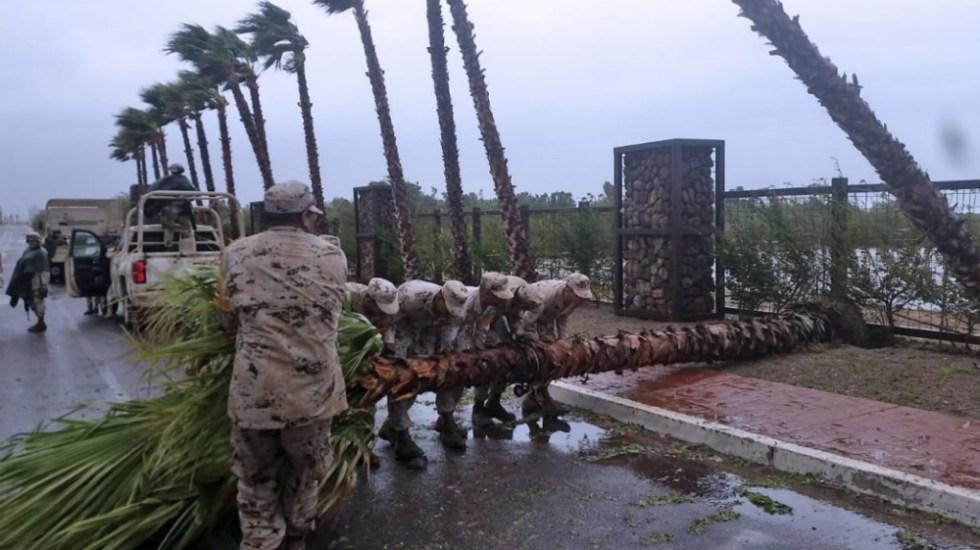 Emergencia en 11 municipios de Sonora por lluvia e inundaciones - Foto de @SEDENAmx