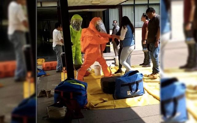 Fuga de amoniaco en IPN Zacatenco - Foto de @Intermezzto