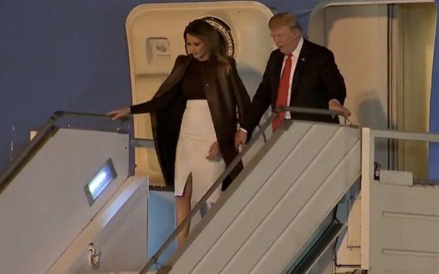 Trump aterriza en Buenos Aires para asistir a cumbre del G20 - Foto de @p_zuchowski