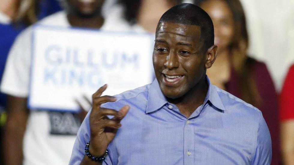 Andrew Gillum acepta derrota ante republicano DeSantis para gobernador de Florida - Foto de AFP