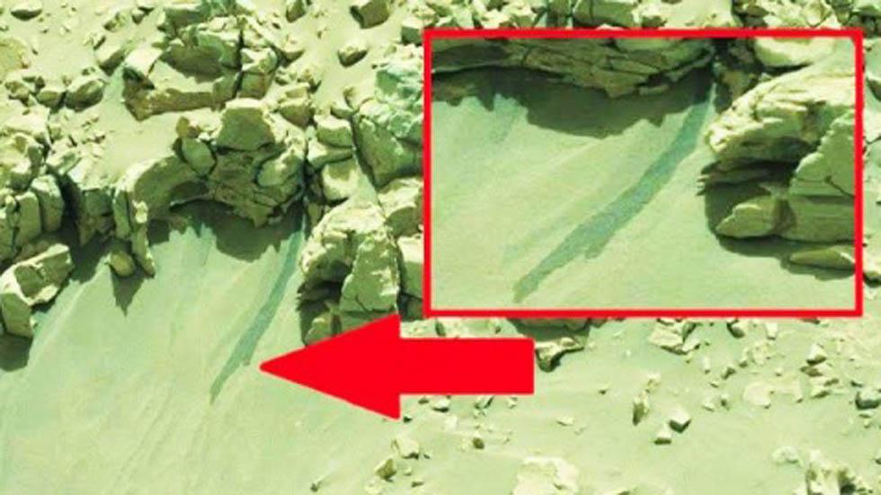 Antiguo lago en Marte. Foto de NASA